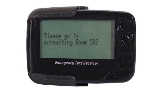 rechargeable Li-battery alphanumeric messages pager 1pc ID programmer free software Pocsag pager