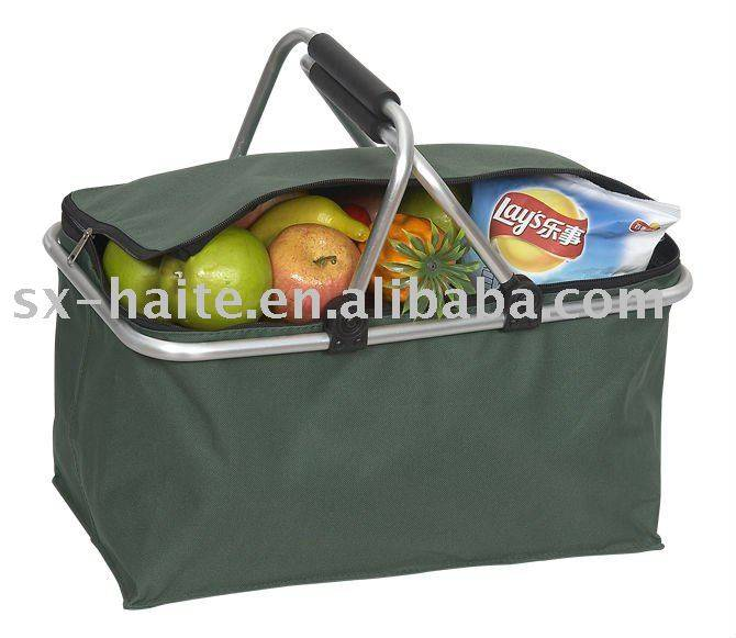 Plain folding shopping basket