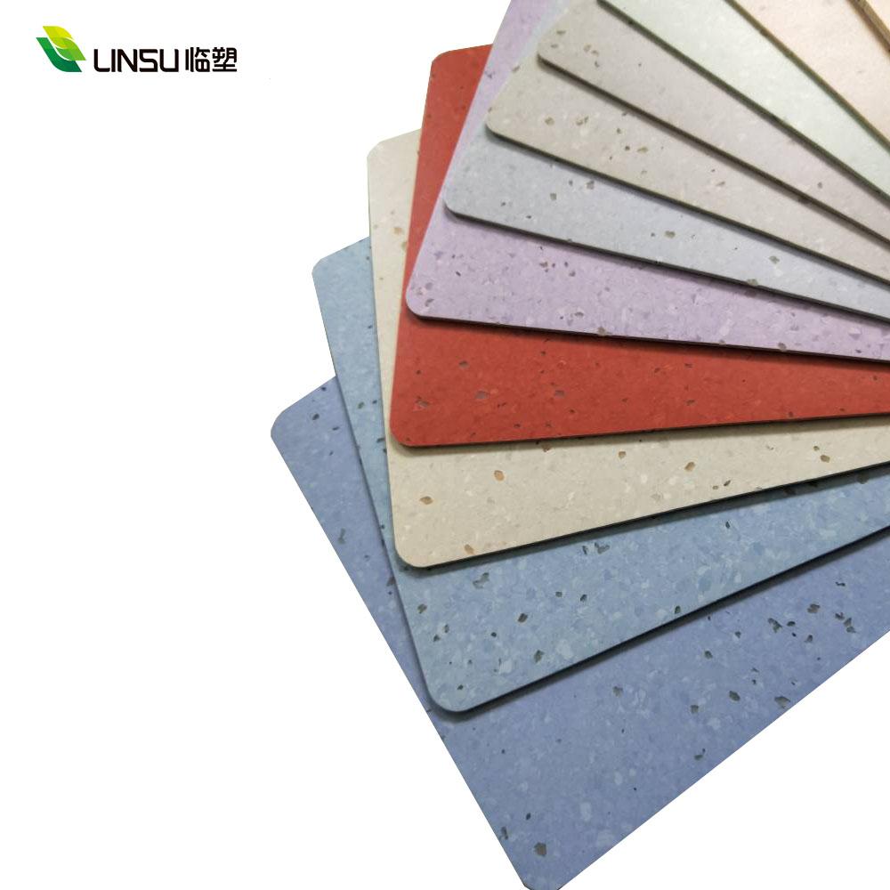 high quality anti-bacterial homogeneous rubber pvc vinyl flooring for bus