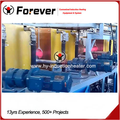 Pipe heat treatment line