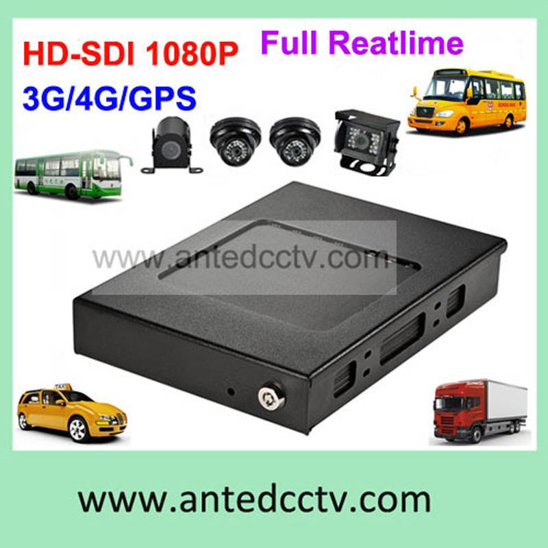 Full HD 1080P 3G WIFI GPS 4CH HDD mobile DVR for Vehicle bus