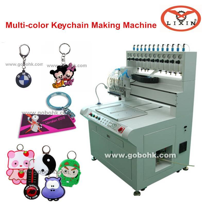 liquid dispensing machine making pvc keychains