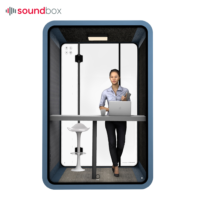 Portable Office Pod Furniture Acoustic Meeting Booth For Two Person