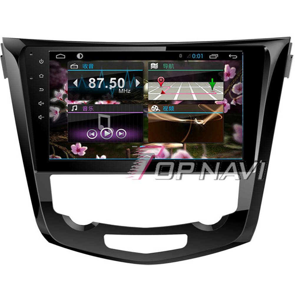 1024*600 10.1inch Android 4.4 Car GPS Player For Nissan X-Trail Navigation Ipod