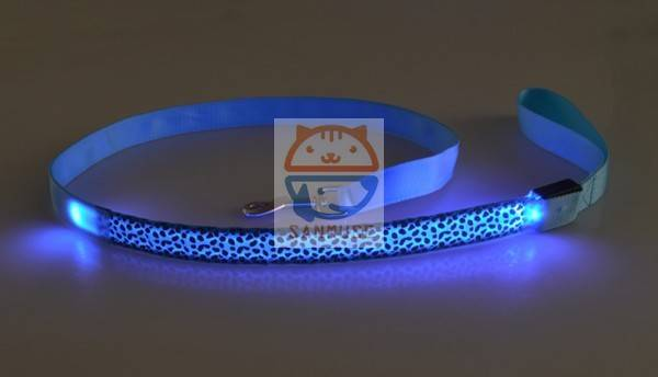 2016 hot sale Leopard Print LED Dog Collar leashes, Flashing Dog Collar leashes, Led Dog Leashes Man