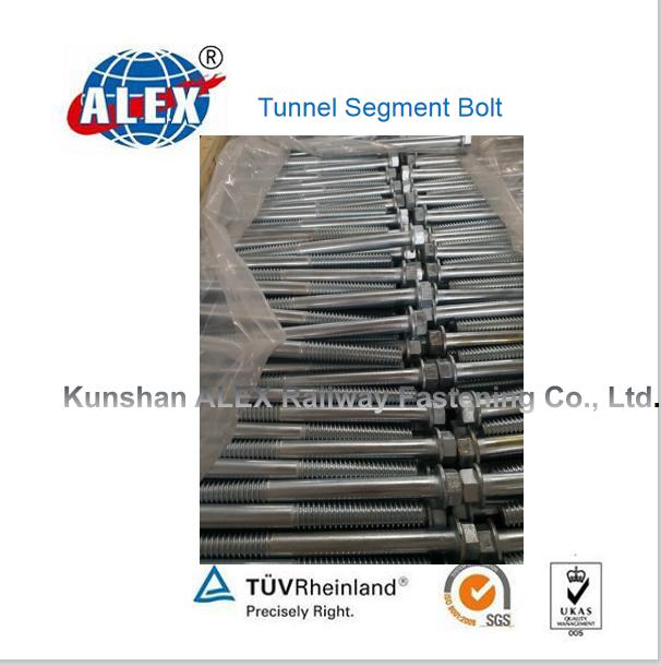 Hexagonal straight subway segment bolt