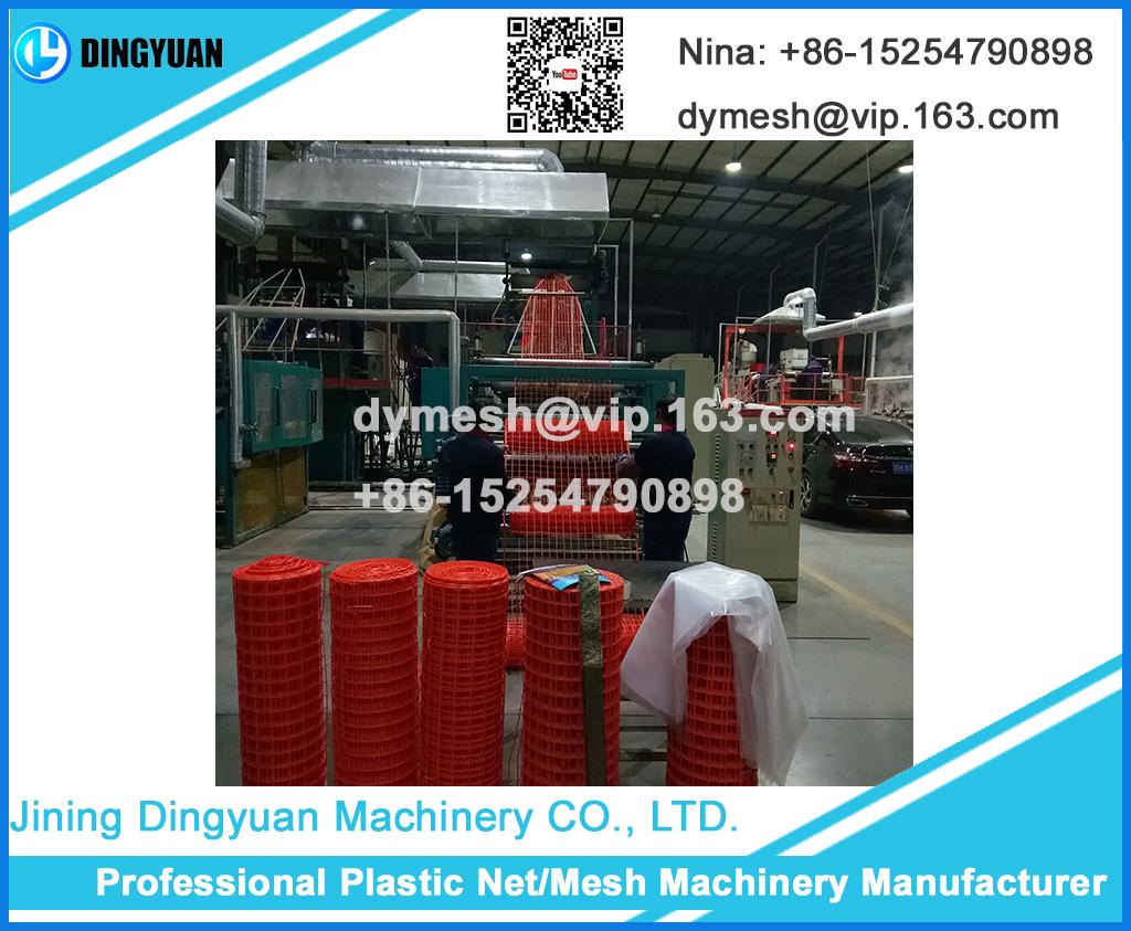 One Extruder Square Mesh Machine, Plastic Net Machine Making