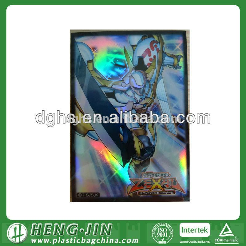 clear plastic card sleeves