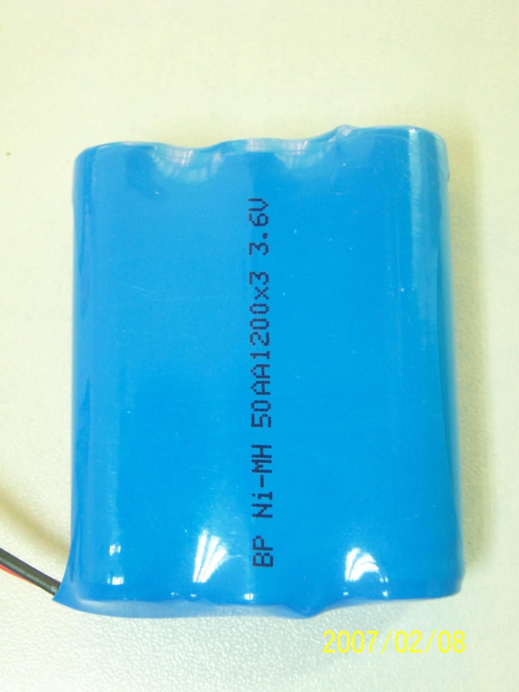 3.6V 49AA1200*3 Nimh battery pack