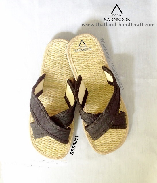 Naturals straw slippers with Papyrus from Thailand