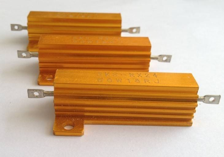 Gold Aluminum Resistor /High Power Resistor 50w