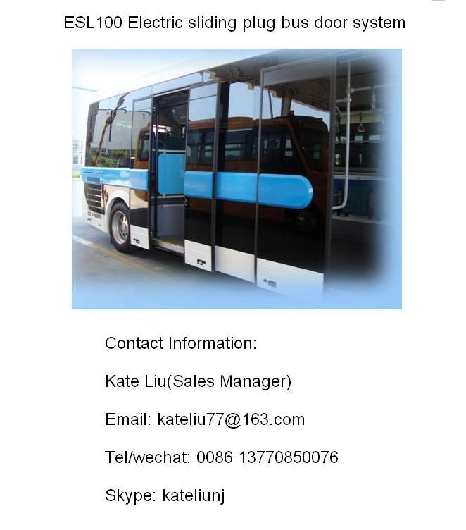 Automatic sliding plug bus door system (ESL100)