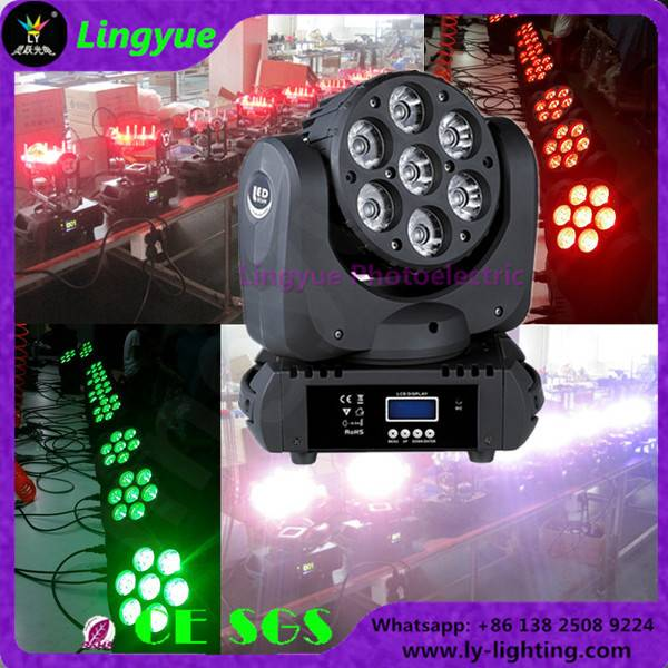 7X12W RGBW 4IN1 beam led moving head light