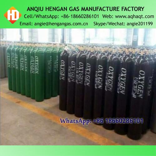 GB5099 40L 15MPA High Pressure Seamless Steel Oxygen Nitrogen Argon Helium N2O Gas Cylinder