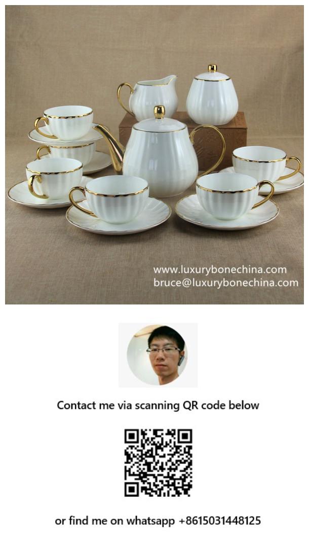 Bone China Tea Sets Factory Supply Contact Now