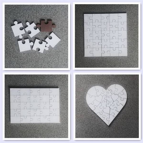 sublimation white blanks MDF puzzles for kids
