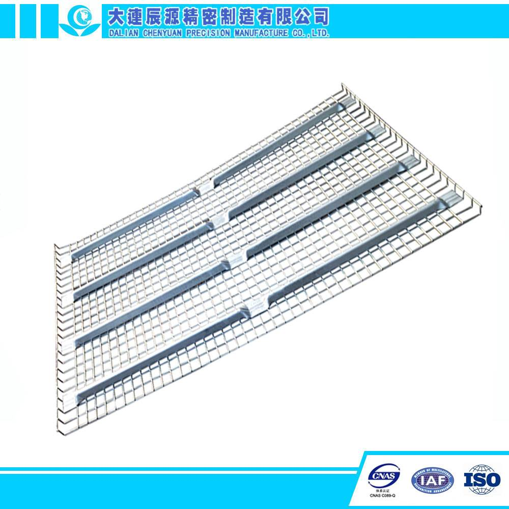 Galvanized Flare Steel Storage Wire Mesh Decking for 3 Beams