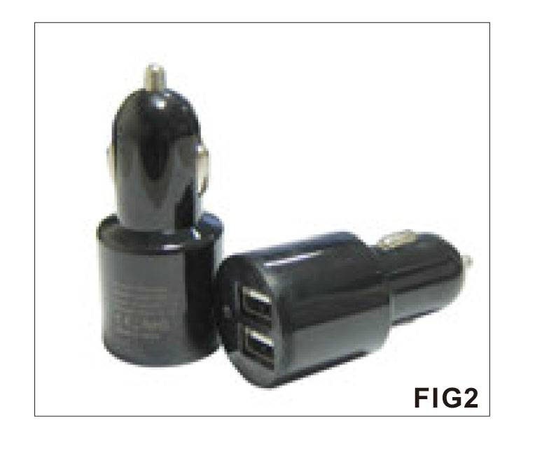 AGD031-D SERIES  31W Dual USB Ports DC DC Car Charger