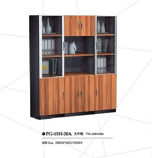 Office wooden file bookcase storage bookshelf(PG-15H-20A)