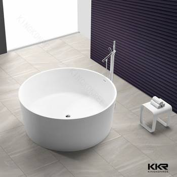 stone resin acrylic solid surface small bathtub shower combo