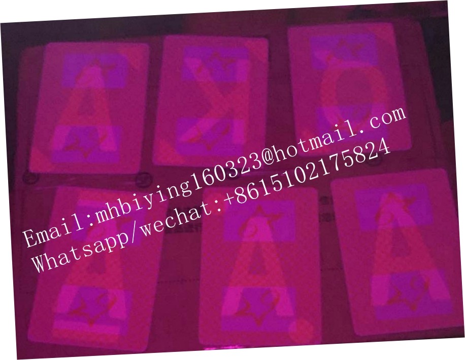 Casino marked cards for poker cheat/casino spy playing cards/contact lenses/invisible ink/cardscheat