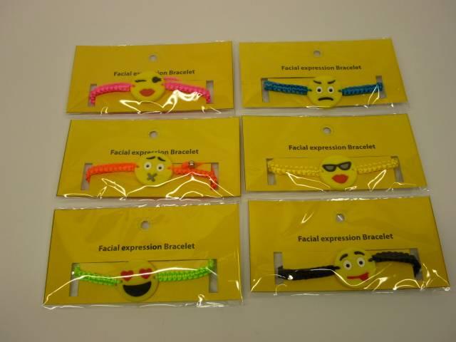 emoji woven bracelet,paracord bracelet,novelty bracelet