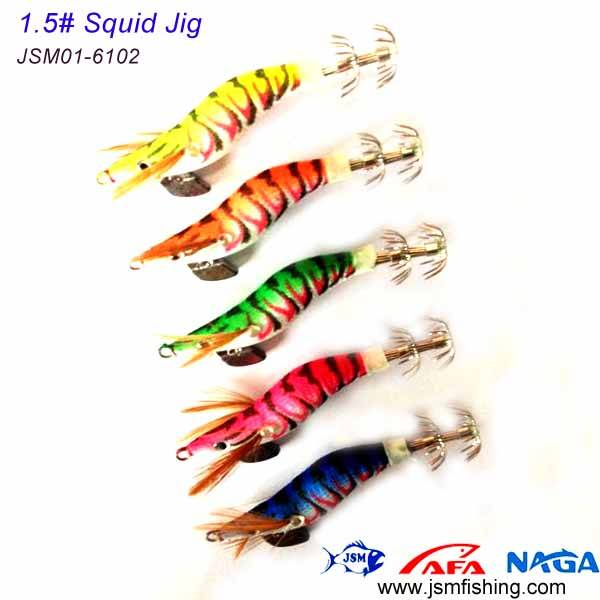 hot sale #1.5 small size plastic japanese squid jigs