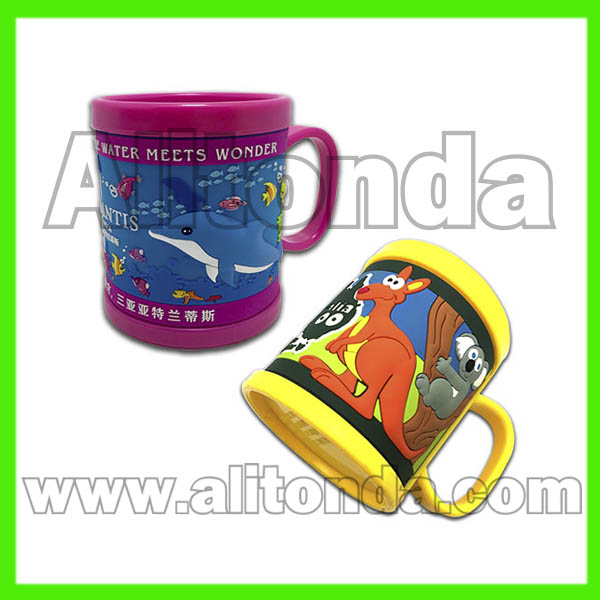 PVC cartoon animal cute children mugs high quality for promotional gifts