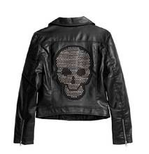 Skull strass motif hotfix rhinestone design for jacket