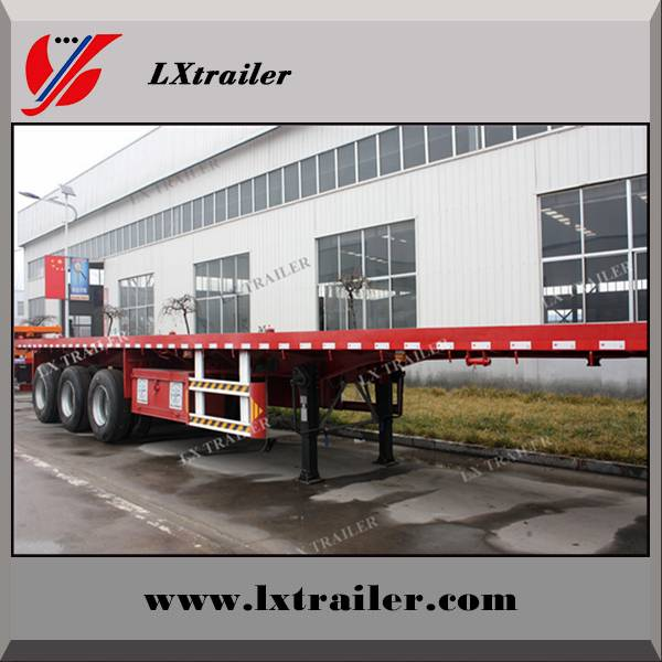 Liangxiang FUWA/BPW axle container transport flatbed semi trailer