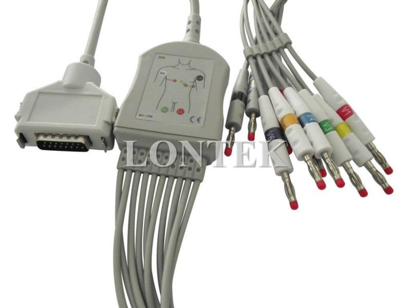 FX-101 Fukuda Denshi ECG/EKG cable with 10 leadwire,Banana type,TPU material,CE approved