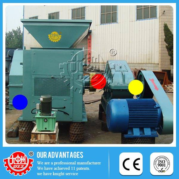 Low-consumption, energy saving charcoal dust briquette machine