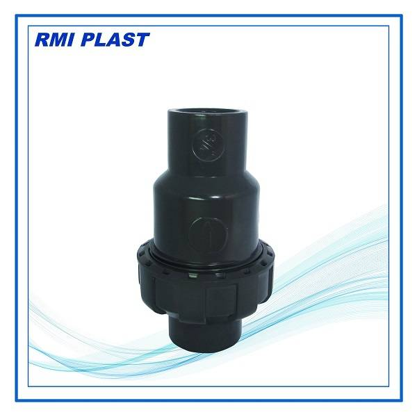 PVC, CPVC, PPH single union ball check valve