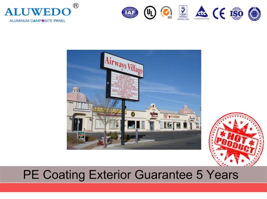 1500m width matt signage board aluminum composite panel alucobond price
