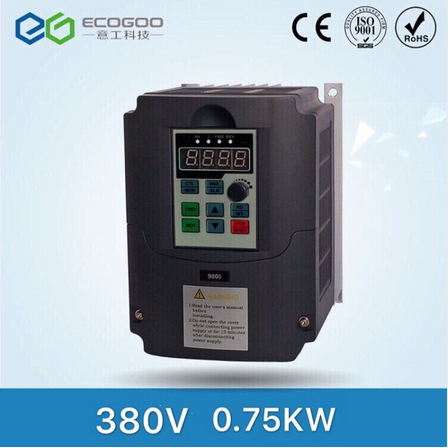 Ecogoo inverter 0.75KW 380V vector control frequency inverter variable speed drive VFD factory direc