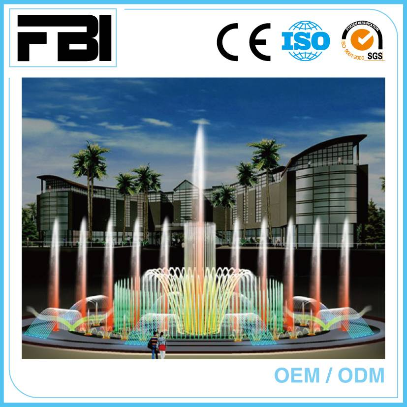 20m round customized dancing fountain, park/ shopping mall fountain