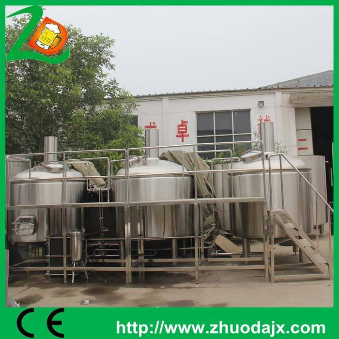 Stainless steel or red cooper materials 1000L beer brewery equipment  for sale from China