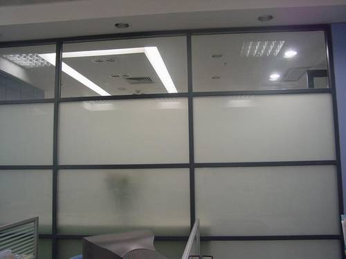 aluminium glass full partition with both single and double glass
