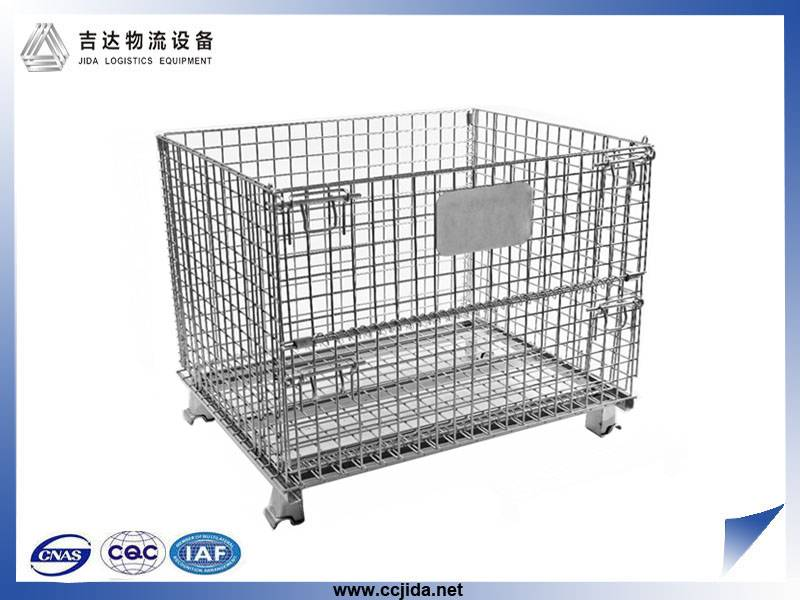 Hot sale OEM special galvanized Wire Mesh Storage Cage container with wheels