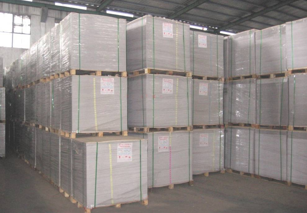 White Coated Duplex Board Grey Back Packaging In Sheets
