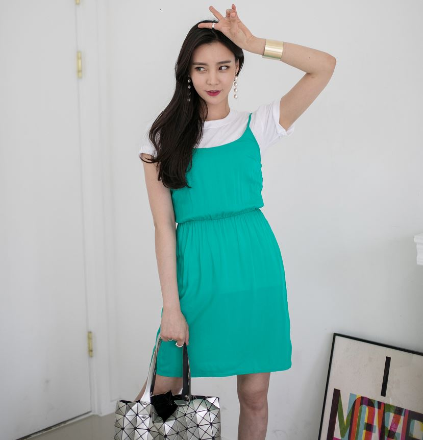 Korean Style fashion Lady Girl Summer Casual Bustier dress for women