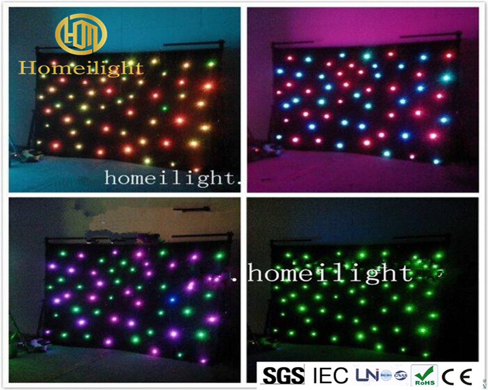 Stage Light Manufacturer RGB Star Curtain Led Lights Strobe Effect