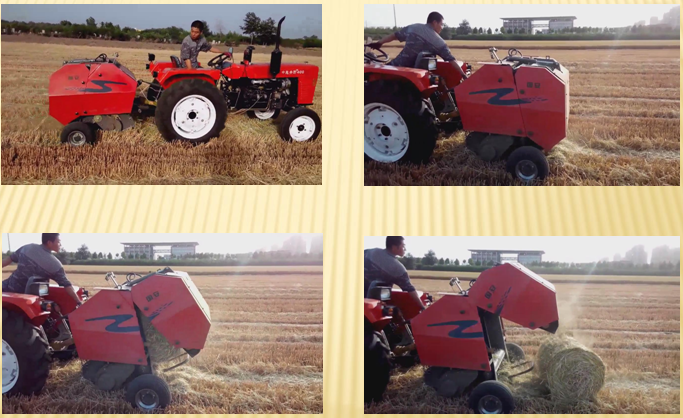 Agriculture small round baler machine for wheat straw