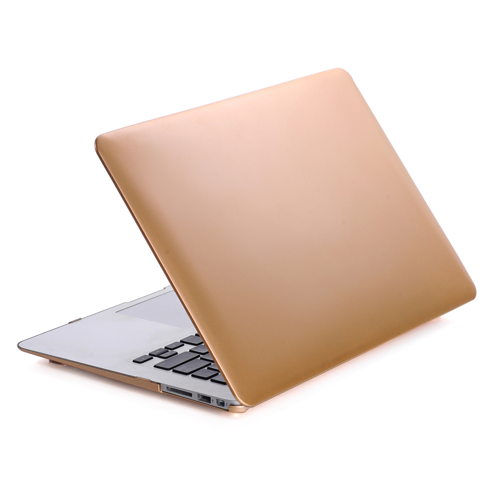 "New Arrival Metallic Gold Color Rubberized Cover Case for Macbook Pro 13"" Retina"