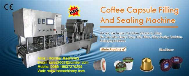 K-cup coffee capsule filling sealing machine