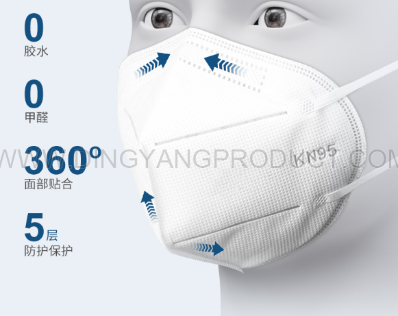 ffp2 Mask  Disposable Face Mask 5 Layer ffp2 Nonwoven Face Shields with Earloop