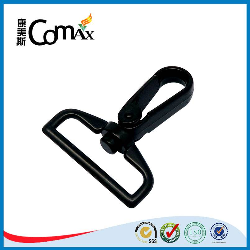High strong black custom metal bag flat snap hook