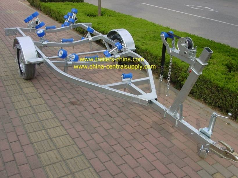 4.5m light-duty boat trailer with roller system
