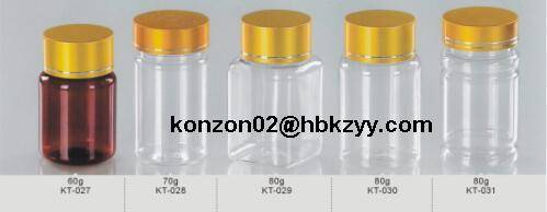 PET plastic bottles for health care products and oral solid medicines pharmaceutical use