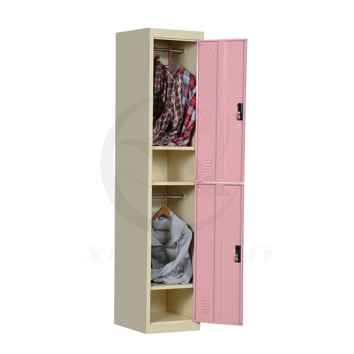 Space saving favorable price 2 door clothes locker